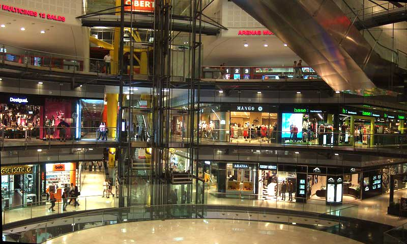shopping centre commercial las arenas