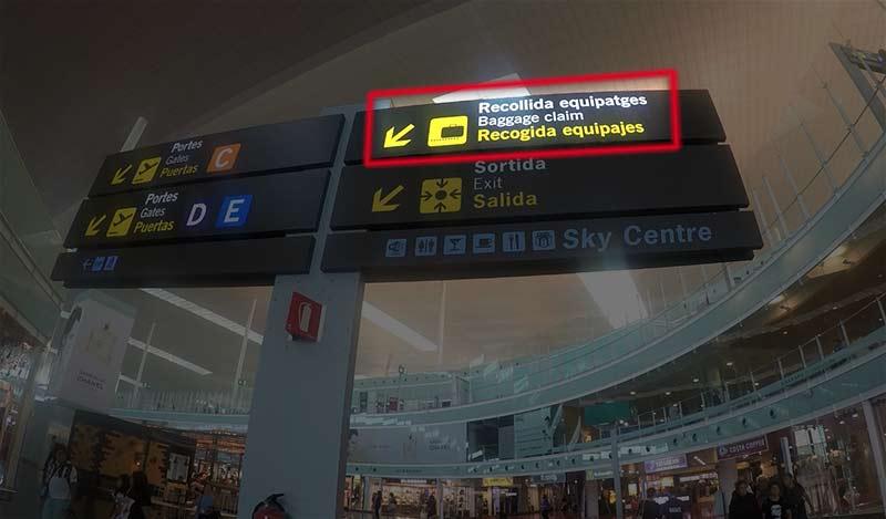 Aeroport El Prat de Barcelone bagage