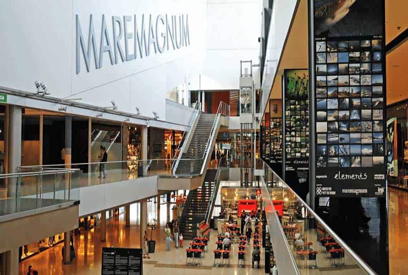 interieur du centre commercial