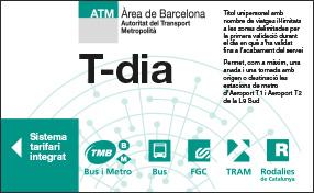 T-dia ticket metro barcelone
