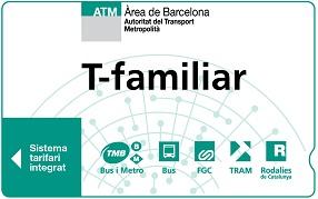 T familiar ticket metro barcelone