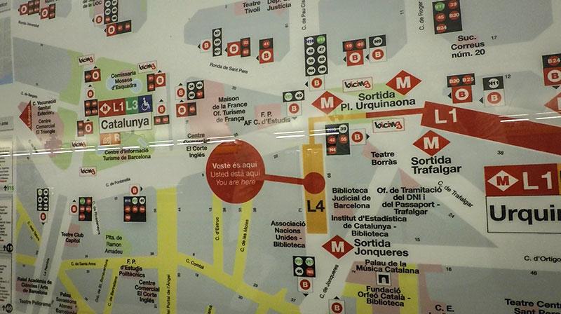 plan metro barcelone