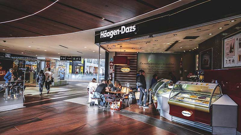 haagen dazs centre commercial diagonal mar