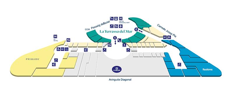 plan centre commercial diagonal mar etage 2
