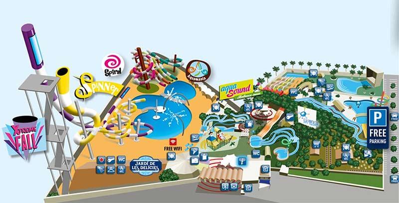 plan parc aquatique illa fantasia