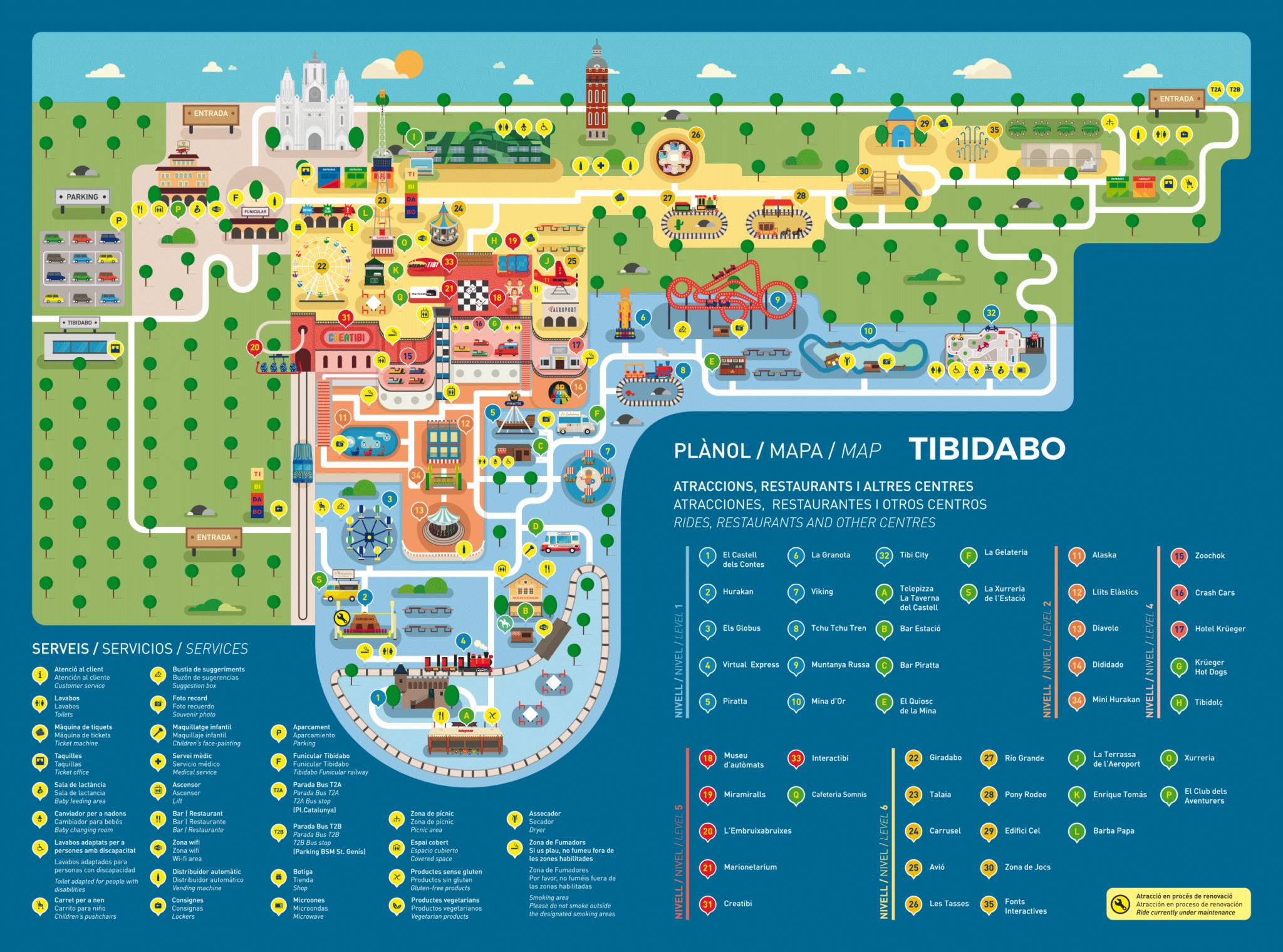 plan parc tibidabo