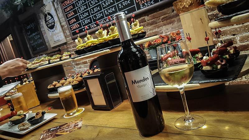 Tapas Barcelone vin blai9