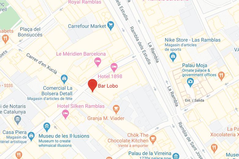 itineraire carte brunch barcelone au bar lobo