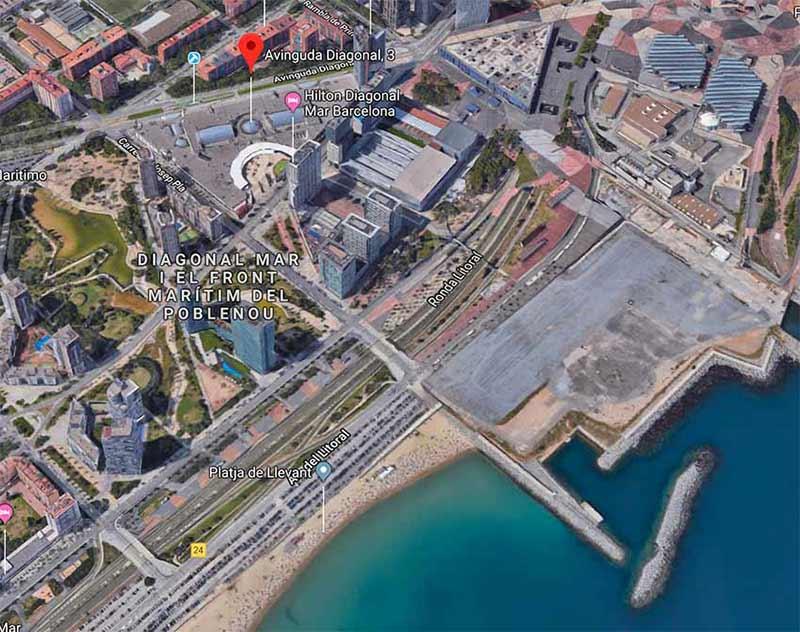 plan carte itineraire centre commercial diagonal mar