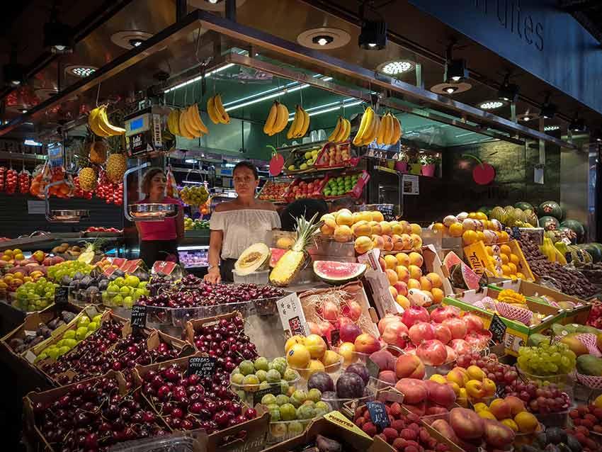 marche boqueria fruits