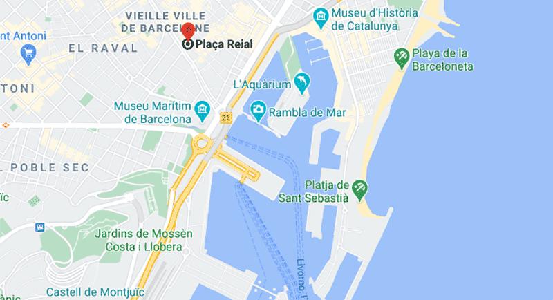 quartier gothique barcelone carte itineraire